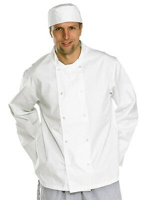 Click Workwear Chefs Long Sleeve Jacket in White Size Small
