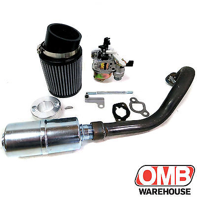 Stage 2 Air Filter Exhaust Pipe For Hemi Predator 212cc MiniBike Go Kart Trike  sc 1 st  PicClick & STAGE 2 AIR Filter Exhaust Pipe For Hemi Predator 212cc MiniBike Go ...