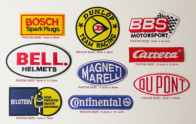MOTORSPORT Sponsorship Patch Set of NINE Patches - FREE POST