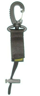 Aquatec Plastic Spring Clip with Velcro Tab with Loop                clipi)(tn4)