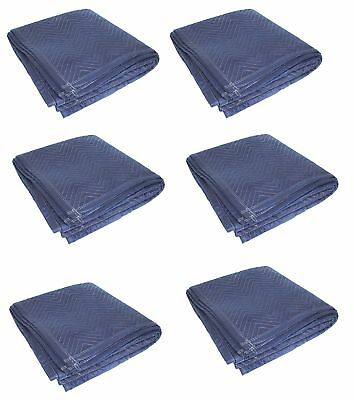 "6PK HEAVY DUTY Moving Blanket PRO Quilted Pads 72"" x 80"" Furniture 69lbs/DZ!!!"