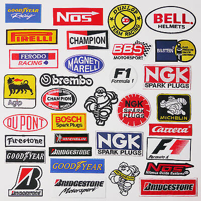 "£1.20 ANY ""RACE SPONSOR"" MOTORSPORT PATCH - WHOLESALE & 80p Postage, UK SELLER"