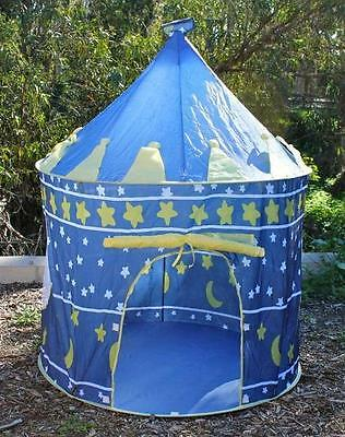 Blue Prince Play House Children Kids Portable Folding Pop Up Tent for Boy New