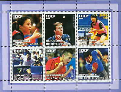 Table Tennis Champions on Stamps - 6 Stamp  Sheet  - 7015