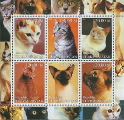 Cats On Stamps - 6 Stamp  Sheet - 3414