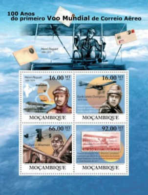 Mozambique - First World Airmail - 4 Stamp  Sheet 13A-659
