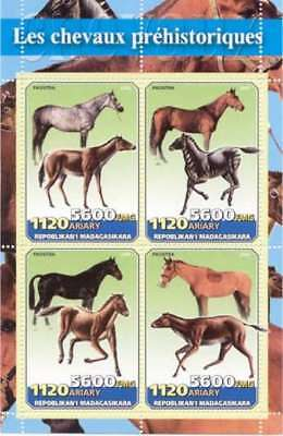 Prehistoric Horses On Stamps - 4 Stamp  Sheet M0746