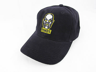 Rob Zombie Embroidered Face Logo Black Adjustable Cap Hat OSFA