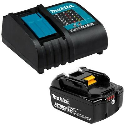 New Makita 18V Battery Cordless Bl1830 3Amp Battery And Dc18Sd Charger