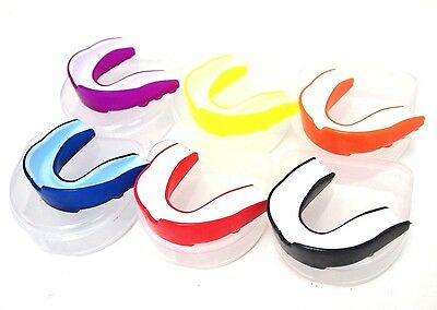 Mouth Guard Piece Teeth Protector Football Basketball Soccer Boxing MMA  5 color