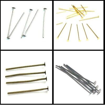 200x 18mm / 100x 38mm / 100x 50mm 0.8mm thickness Headpins - Various Colours