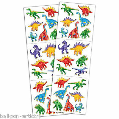 2 Dino Dinosaur Children's Party Gift Favour Loot Stickers Sheets