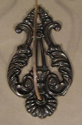 Vintage Antique  Victorian Black Metal Ornate Wall Hook