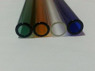 Borosilicate Glass Tubing 8 Inch 10mm OD 1mm Wall 5 Colored Tubes Pyrex COE 33