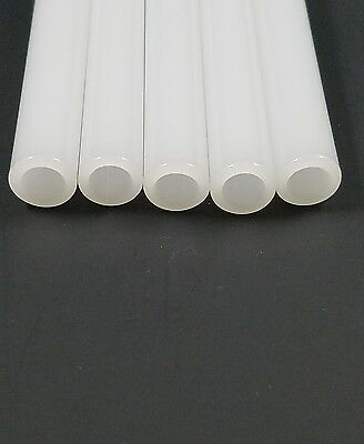 "8"" Glass Pyrex BlowingTubes 4 Pieces White Color 12 mm OD Tubing 2mm Thick Wall"