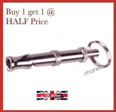 High Quality Dog Puppy Whistle Adjustable Sound Key Chain Training