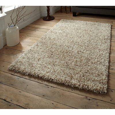 SHAGGY THICK 5cm PILE RUGS SMALL X LARGE SIZE NEW SOFT PLAIN PURPLE NON SHED RED