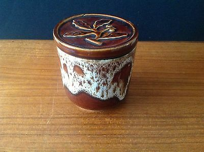 FOSTERS POTTERY POT WITH LID