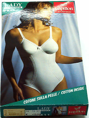 Body Lady Cross 6411 PAPILLON Cotone Sulla Pelle Made In Italy