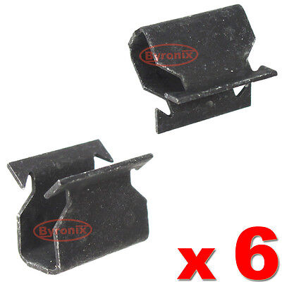 Ford Focus Mk2 Cowl Scuttle Panel Trim Clips Metal Clamp Front Below Windscreen