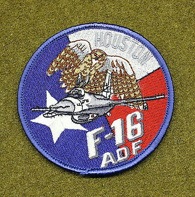 29438) Military Patch USAF F-16 ADF Houston Texas Air Defense Fighter Insignia