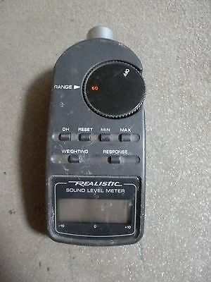Realistic Sound Level Meter Digital Model #33-2055 Tested Free Shipping