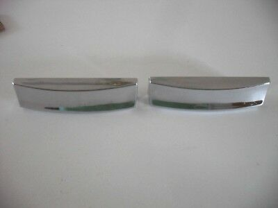 Two Vintage 1960's CHROME Plated DRAWER Pulls BIN Cup Finger Style Art Deco • CAD $31.46
