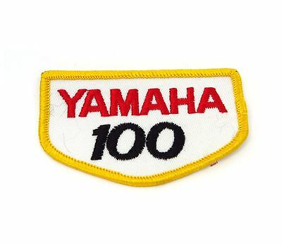 NOS Vintage Yamaha 100 Patch - Street Dirt Motocross Motorcycle 70's 80's