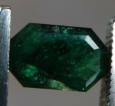 "Natural Rare Unoiled Faceted Emerald 0.89 ct  ""Stunning_Gemstones"""