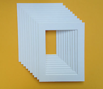 10 x 12 Inch White Mounts to fit 8 x 10 Pictures. Pack of 15