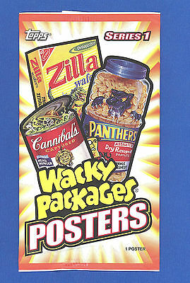 2012  Topps   Wacky Packages  Poster Series 1   Brand New Sealed Pack