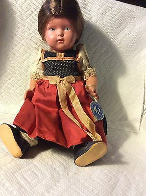 OLD GERMAN CELLULOID DOLL-ORIG. DRESS-SHOES