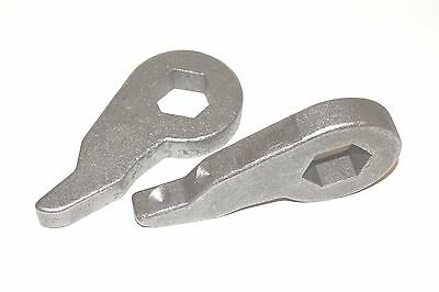 """B4000 08 FRONT LOWERING DROP KIT 1-3"""" FORGED STEEL RE-INDEXED TORSION KEYS 4X4"""