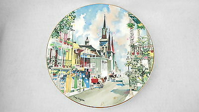 """RARE 1976 ROYAL DOULTON FRENCH QUARTER NEW ORLEANS PLATE By DONG KINGMAN 10 1/4"""""""