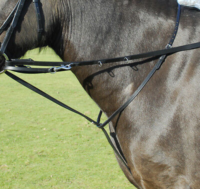 Windsor Equestrian Plain Leather Market Harborough With D Rings Includes Reins