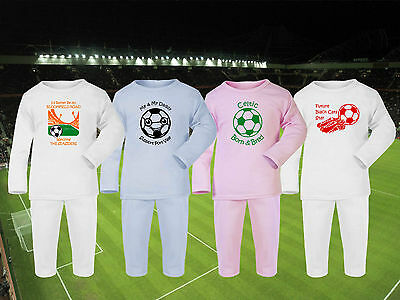 Football Baby/Childrens Pyjamas set PJs / CHOOSE ANY TEAM! 4 Designs / Sleepwear