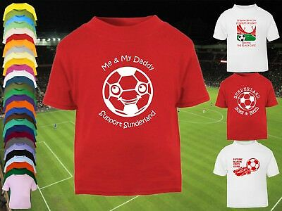 SUNDERLAND AFC Football Baby/Kids/Children's T-SHIRT Top Personalised-Any colour