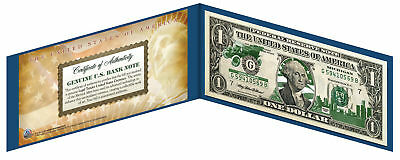 MICHIGAN State $1 Bill *Genuine Legal Tender* U.S. One-Dollar Currency *Green*