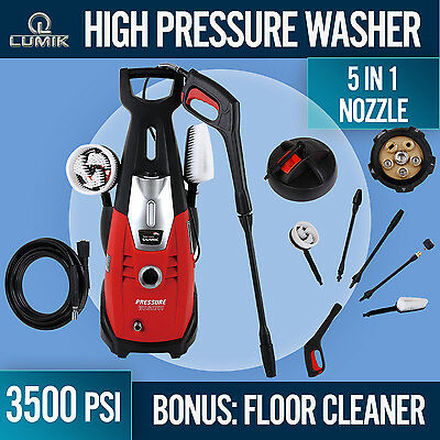 High Pressure Washer 3500PSI Cleaner Washer Electric Pump Hose Gurney Many Extra
