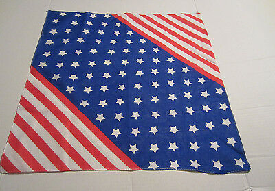 Americana Red White And Blue Star's And Stripes    Bandana From Hot Topic New