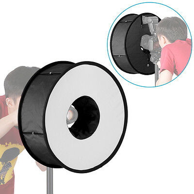 """Neewer Ring Flash Diffuser Soft Box 45cm/18"""" for Macro and Portrait Photography"""