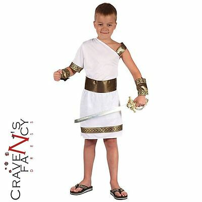 Kids Boys Roman Greek Gladiator Caesar Fancy Dress Costume Childs BOOK DAY WEEK