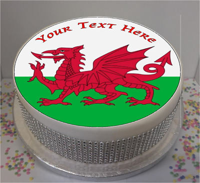 """Novelty Hungary Flag 7.5/"""" Edible Icing Cake Topper birthday personalised"""