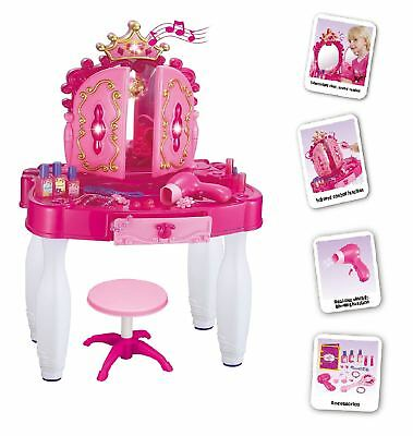 Vinsani Princess Vanity Light & Sound Electric Mp3 Dressing Beauty Table Toy