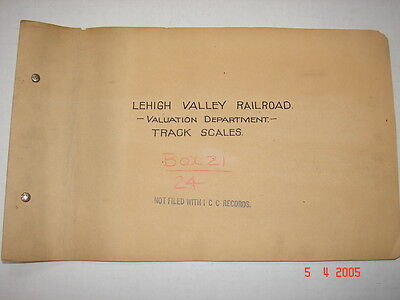 LVRR CO - Valuation Department - Track Scales - 1918