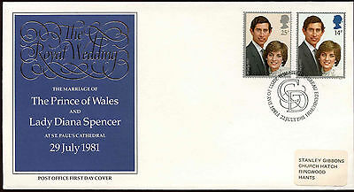 GB 1981 Royal Wedding FDC First Day Cover #C14973