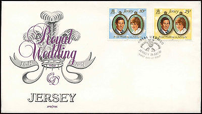 Jersey 1981 Royal Wedding FDC First Day Cover #C14994