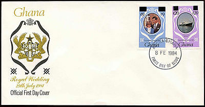 Ghana 1981 Royal Wedding Imperf Booklet Stamps Surch FDC First Day Cover #C14968