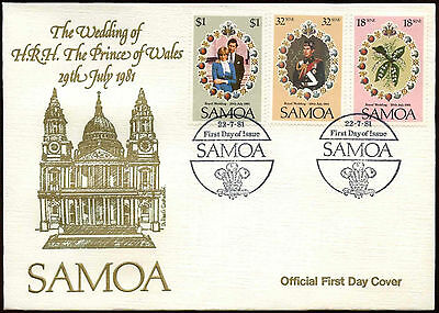 Samoa 1981 Royal Wedding FDC First Day Cover #C15019