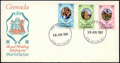 Grenada 1981 Royal Wedding FDC First Day Cover #C14974